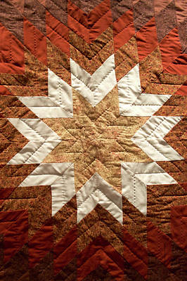 Homemade Quilts Photograph - Native American Great Plains Indian Artwork Vertical 01 by Thomas Woolworth