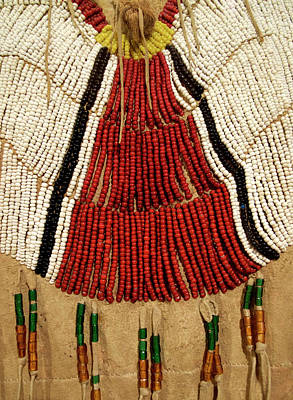Homemade Quilts Photograph - Native American Great Plains Indian Clothing Artwork Vertical 03 by Thomas Woolworth