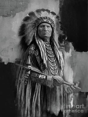 First Tribes Painting - Native American Indian by Gull G