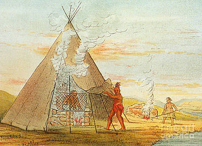 Native American Indian Sweat Lodge Art Print by Science Source