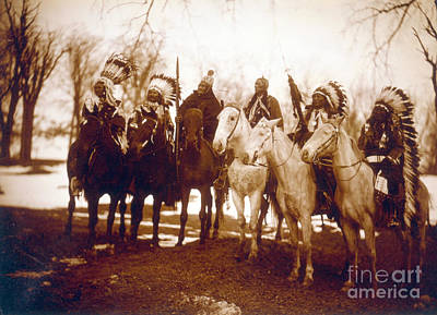 Native American Indian Tribal Leaders Art Print by Science Source