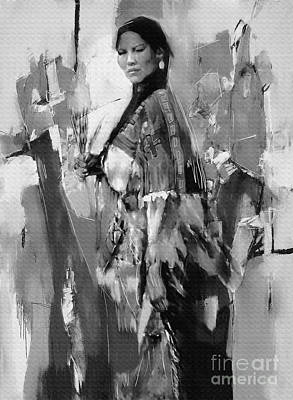 Native American Lady  Original
