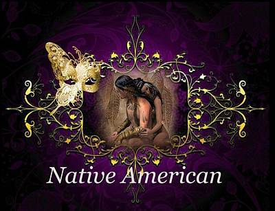Digital Art - Native American Logo by Ali Oppy