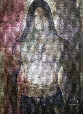 Digital Art - Native American Man by Absinthe Art By Michelle LeAnn Scott