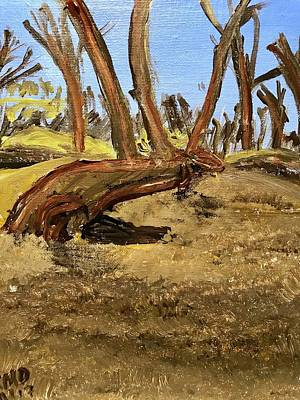 Painting - Native American message tree by Richard Dalton