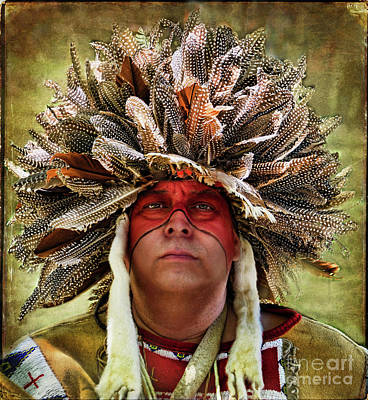 Native American Spirit Portrait Photograph - Native American by Norma Warden