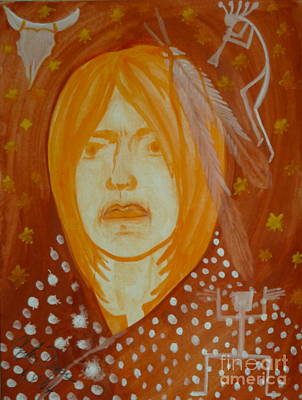 Painting - Native American Passions by Anna Folkartanna Maciejewska-Dyba