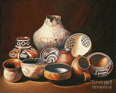 Painting - Native American Pottery by Ekaterina Stoyanova