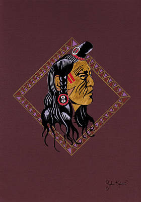 Drawing - Native American Pride by John Keaton