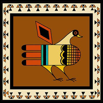 Digital Art - Native American Quail by Vagabond Folk Art - Virginia Vivier