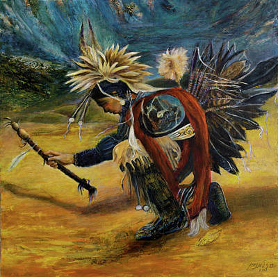 Painting - Native American Rain Dance by Sylva Zalmanson