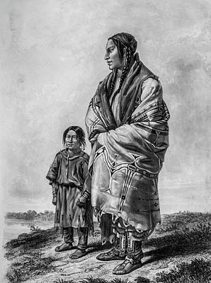 1833 Photograph - Native American Squaw And Child by Douglas Barnett