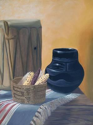 Painting - Native American Treasures nr. 2 by Philipp Merillat