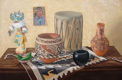 Painting - Native American Treasures nr. 4 by Philipp Merillat