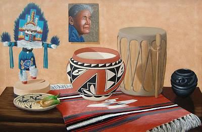 Painting - Native American Treasures nr. 7 by Philipp Merillat