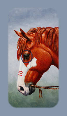 Paint Horse Painting - Native American War Horse Phone Case by Crista Forest