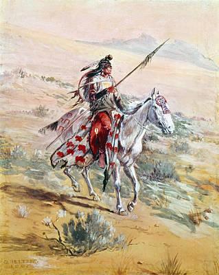 Earrings Photograph - Native American Warrior by Granger