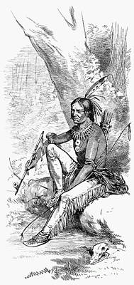 Native American With Pipe Art Print by Granger