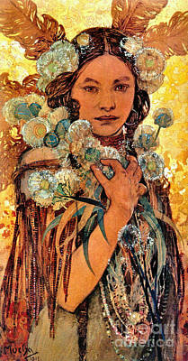 Native American Woman 1905 Art Print