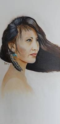 Painting - Native American Woman by Bas Hollander