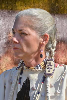 Photograph - Native American Woman by Kathy Baccari