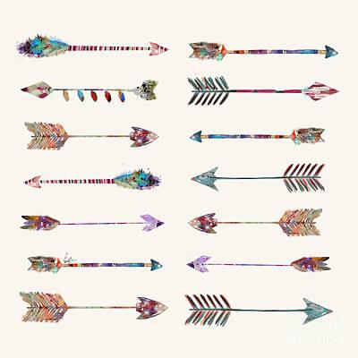 Painting - Native Arrows by Bleu Bri