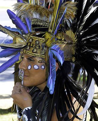 Digital Art - Native Blue by Joe Paradis