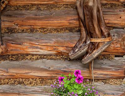 Photograph - Native Cabin by Dennis Eckel