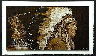 Pyrography Pyrography - Native Chief  Pyrography by Adin Begic