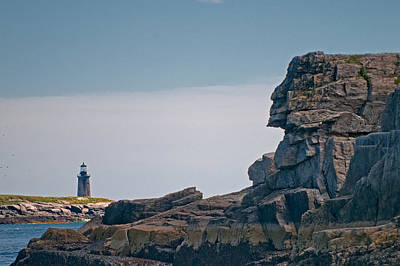 Photograph - Native Chief Watching Over Ram Island Light by Paul Mangold