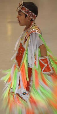 Photograph - Native Child Dancer by Audrey Robillard