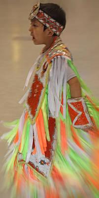 Photograph - Native Child Dancer by Audrey Robillard