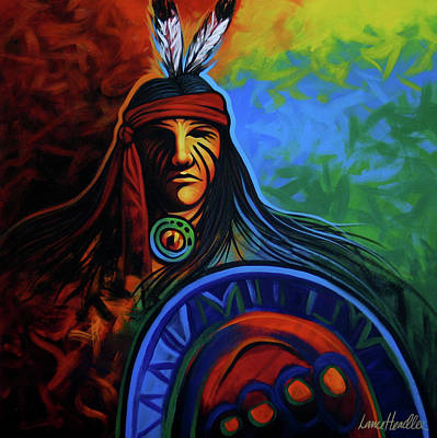 Native American Painting - Native Colors by Lance Headlee