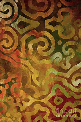 Autumn Art Painting - Native Elements Earth Tones by Mindy Sommers