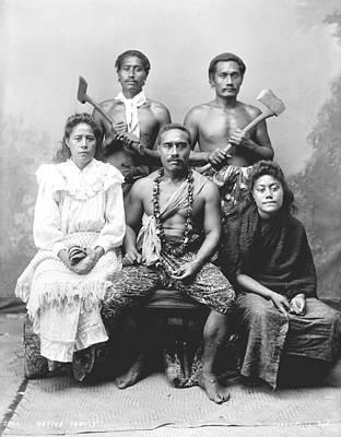 Native Family, Kerry And Company, Sydney, New South Wales, Australia, 1884-1917 Art Print