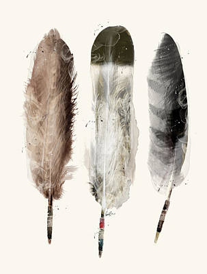 American Eagle Painting - Native Feathers by Bri B