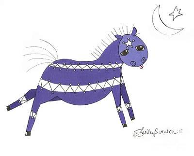 Mixed Media - Native Horsey by Shelley Overton