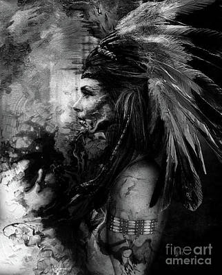 First Tribes Painting - Native Indians Feather by Gull G