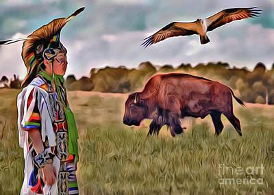 Digital Art - Native Lands by Scott Hervieux