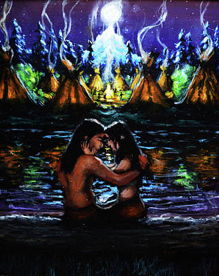 Betrothed Painting - Native Love by Chris Bahn