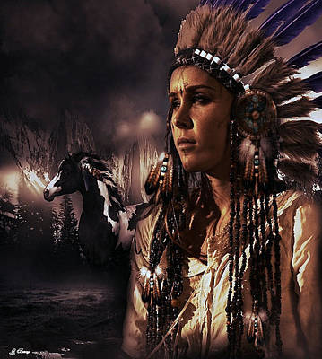 Pow Mixed Media - Native My People by G Berry