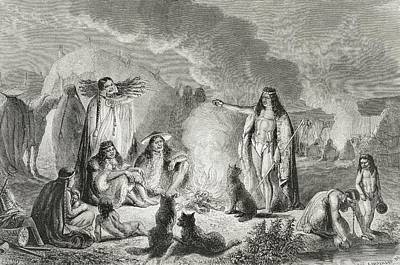 Native Drawing - Native Patagonians In The 1850s by Vintage Design Pics