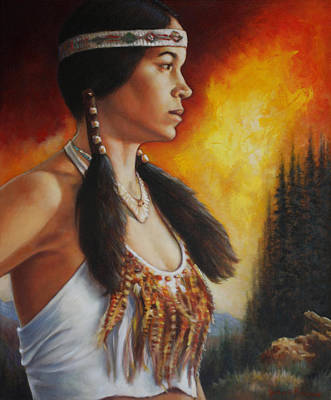 Maiden Painting - Native Pride by Harvie Brown