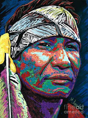 Native Pride Art Print by Maria Arango