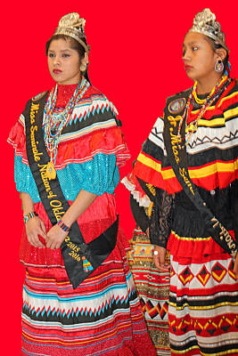 Photograph - Native Princesses-2 by Audrey Robillard
