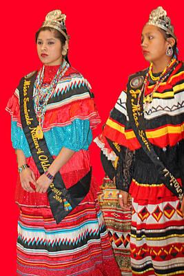 Photograph - Native Princesses-2 by Audrey Robillard