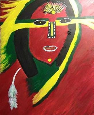 Painting - native Queen  by Samimah Houston