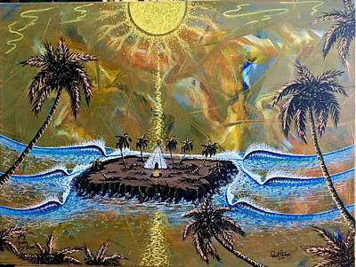 Painting - Native Sunset Dream by Paul Carter