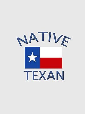 Digital Art - Native Texan by Bill Owen
