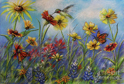 Mural Wall Art - Pastel - Native Wildflowers Original Er Mural Concept by Debora Schubert Lytle
